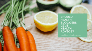 Should health bloggers give health advice?