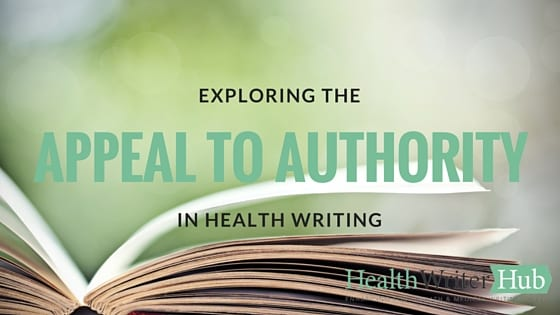 appeal to authority in health writing