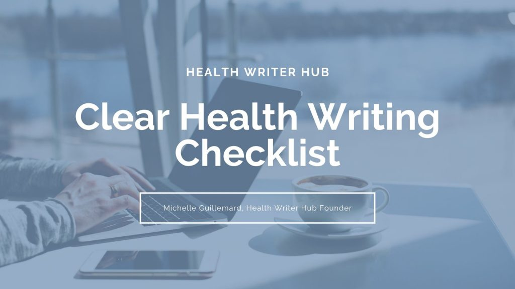 clear health writing checklist
