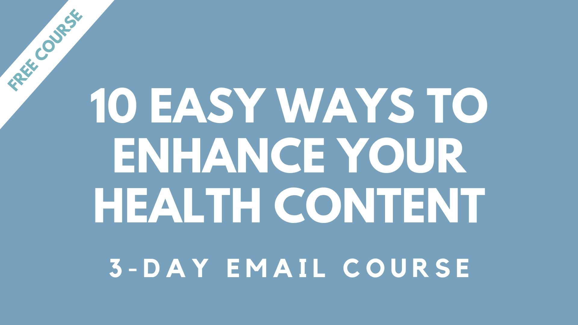 free health writing course