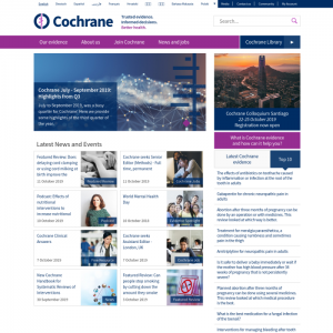 cochrane medical news websites