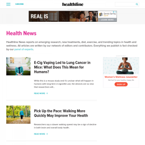 healthline medical news websites