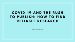 reliable COVID-19 research