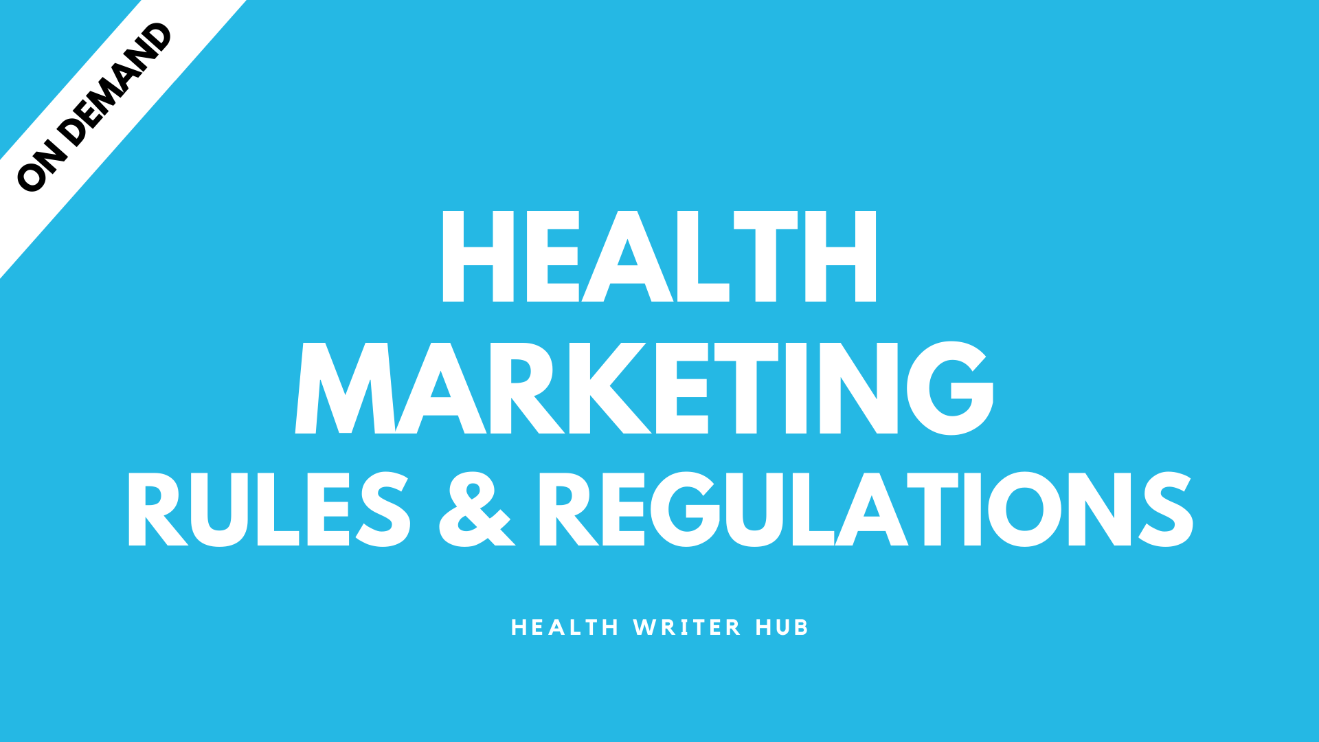 health marketing rules and regulations