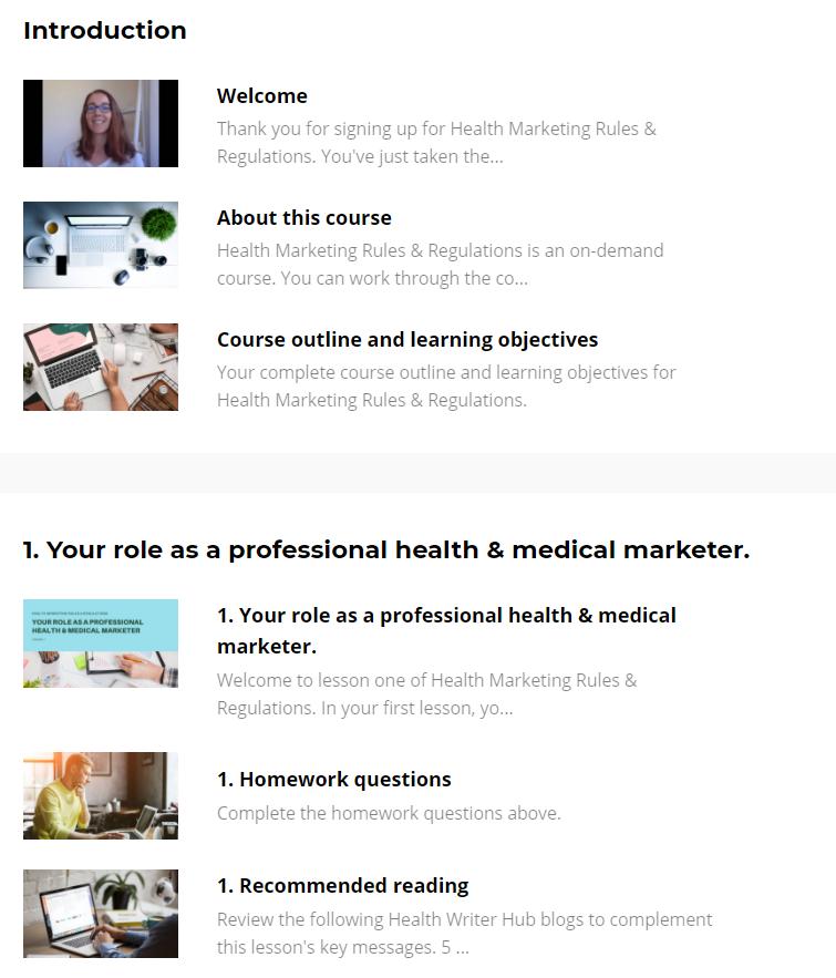 health marketing rules regulations