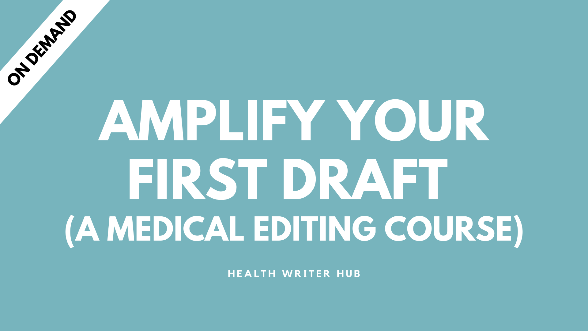 medical editing course