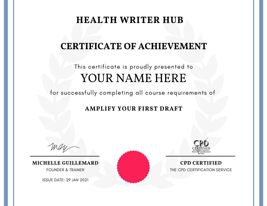 medical editing course certificate