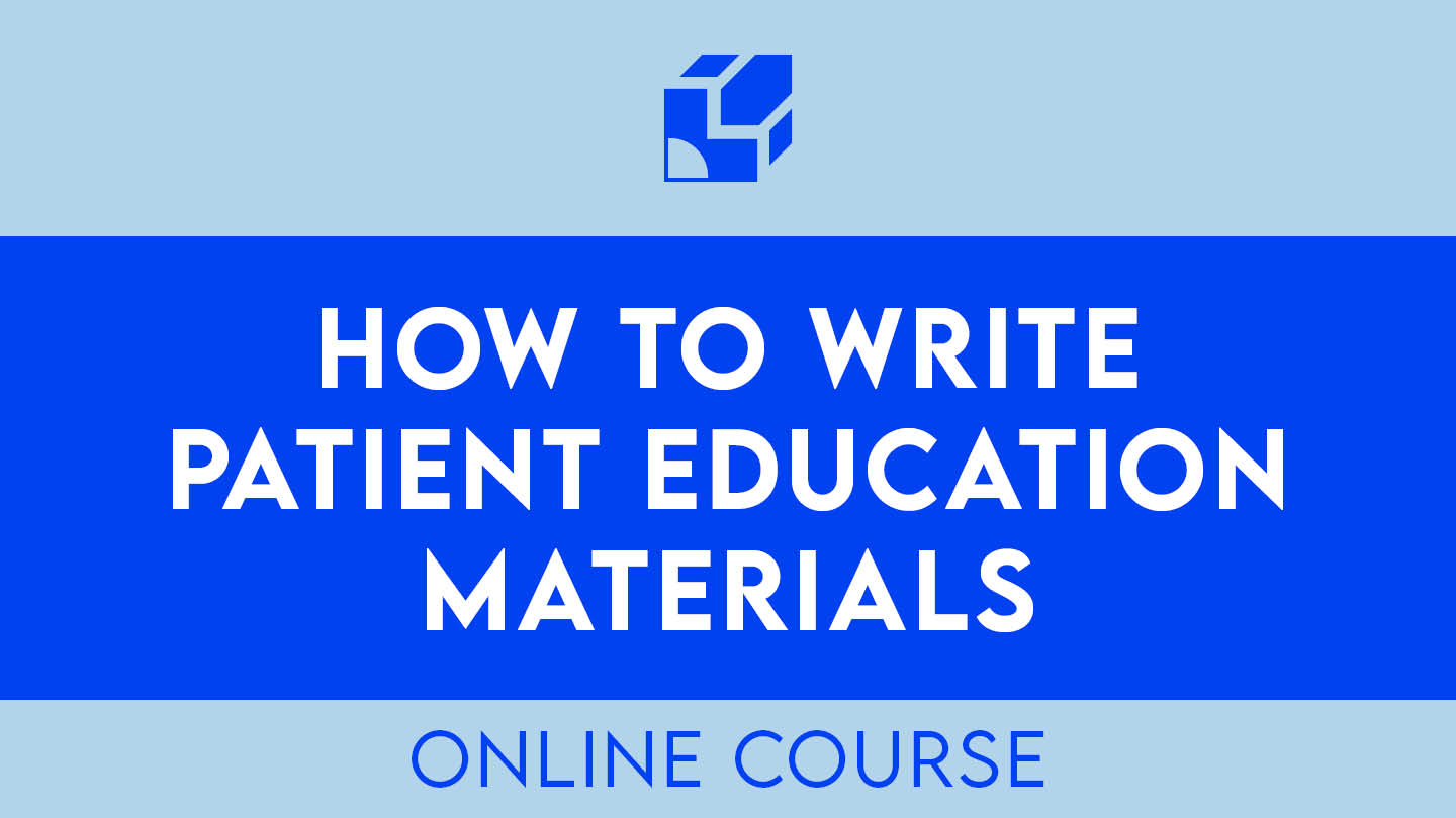 how to write patient education materials