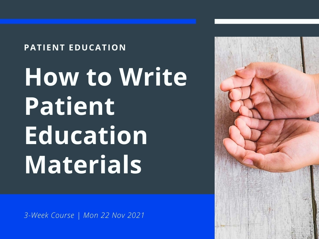 how to write patient educational material